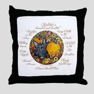 Autumn Scottie Love Throw Pillow