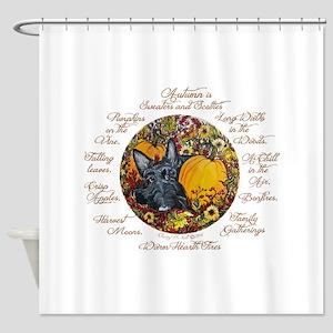 Autumn Scottie Love Shower Curtain