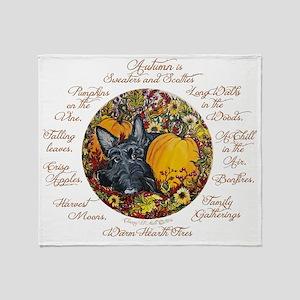 Autumn Scottie Love Throw Blanket
