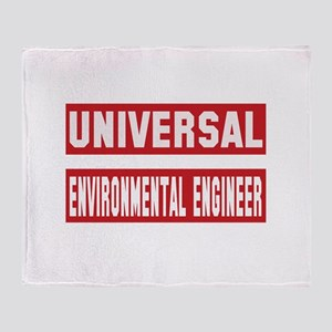 Universal Environmental engineer Throw Blanket