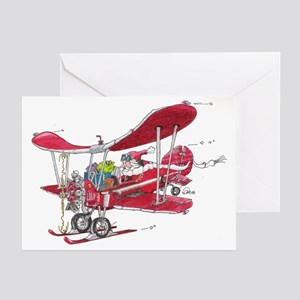 Santa Biplane Greeting Cards (Pk of 10)