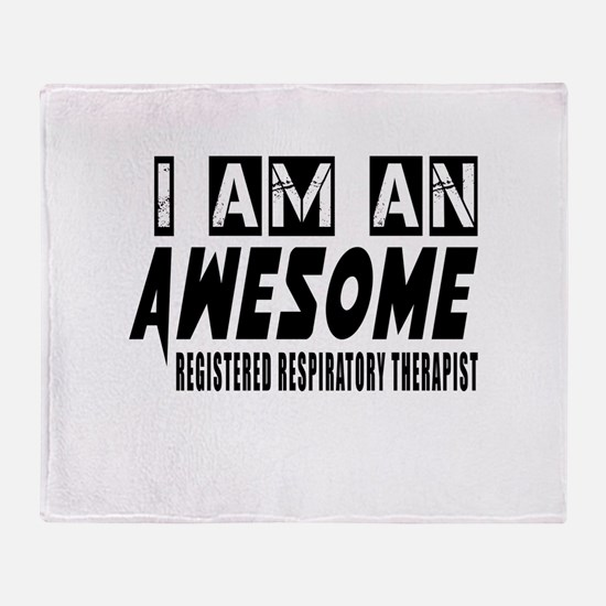 I Am REGISTERED RESPIRATry Throw Blanket