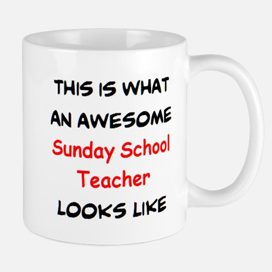 awesome sunday school teacher Mug