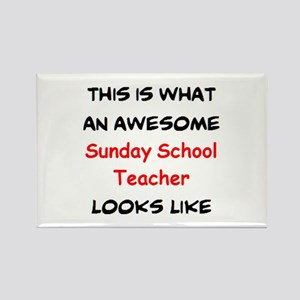 awesome sunday school teacher Rectangle Magnet