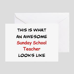 awesome sunday school teacher Greeting Card