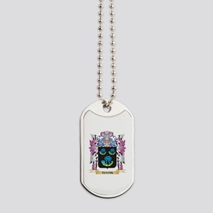 Tustin Coat of Arms - Family Crest Dog Tags