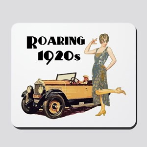 Roaring 20s Flapper and Auto Design Mousepad
