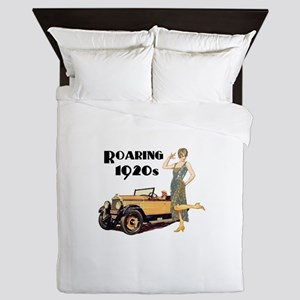 Roaring 20s Flapper and Auto Design Queen Duvet