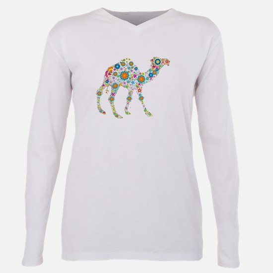 Cute Camel Plus Size Long Sleeve Tee