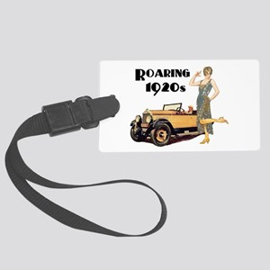 Roaring 20s Flapper and Auto Des Large Luggage Tag