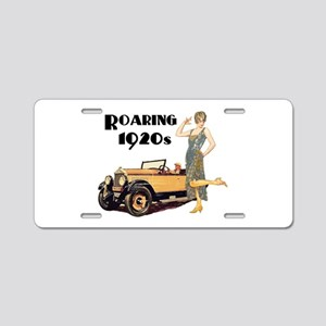Roaring 20s Flapper and Aut Aluminum License Plate