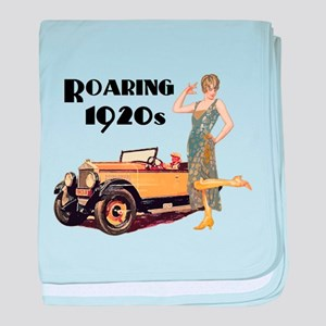 Roaring 20s Flapper and Auto Design baby blanket