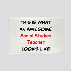 awesome social studies teacher Rectangle Magnet
