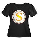 IS-SI Women's Plus Size Scoop Neck Dark T-Shirt