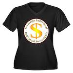 IS-SI Women's Plus Size V-Neck Dark T-Shirt