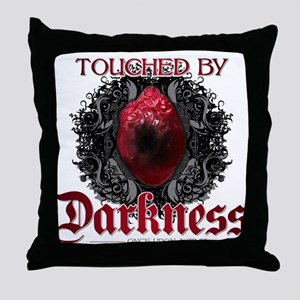 Touched by Darkness Throw Pillow