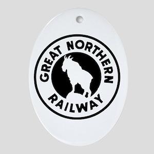 Great Northern Railway logo Oval Ornament