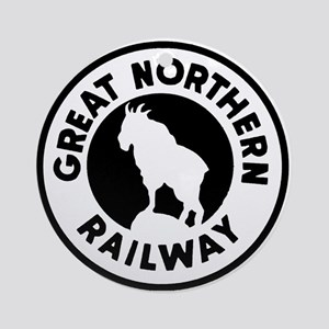 Great Northern Railway logo Round Ornament