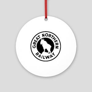 Great Northern Railway logo Round Ornament