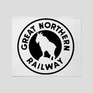 Great Northern Railway logo Throw Blanket