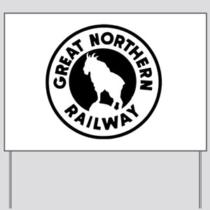 Great Northern Railway logo Yard Sign