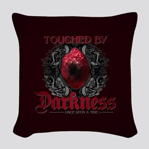 Touched by Darkness Woven Throw Pillow