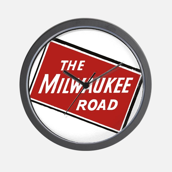 Milwaukee Road logo- slanted Wall Clock