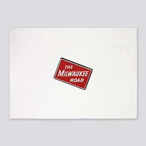 Milwaukee Road logo- slanted 5'x7'Area Rug