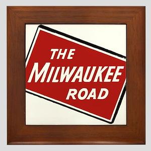 Milwaukee Road logo- slanted Framed Tile