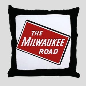 Milwaukee Road logo- slanted Throw Pillow