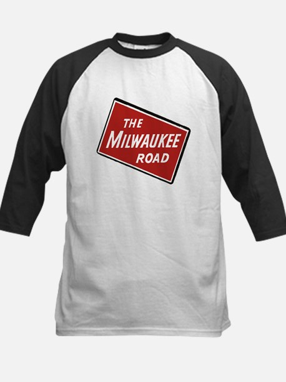 Milwaukee Road logo- slanted Baseball Jersey