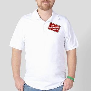 Milwaukee Road logo- slanted Golf Shirt