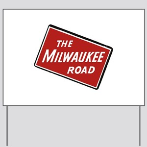 Milwaukee Road logo- slanted Yard Sign