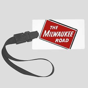 Milwaukee Road logo- slanted Large Luggage Tag