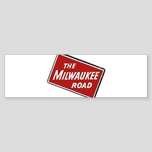 Milwaukee Road logo- slanted Bumper Sticker