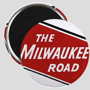 Milwaukee Road logo- slanted Magnets
