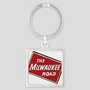 Milwaukee Road logo- slanted Keychains