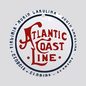 Atlantic Coast Line Railroad Round Ornament