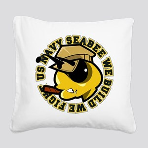 Angry SeaBee Square Canvas Pillow