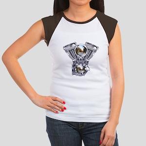 V-twin Engine Art Women's Cap Sleeve T-Shirt
