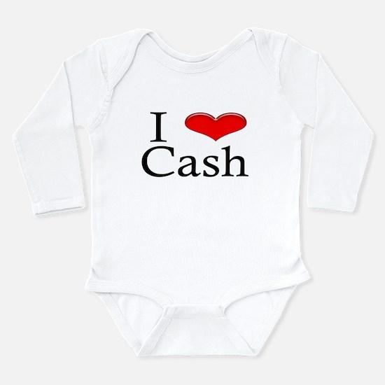 I Heart Cash Infant Creeper Body Suit