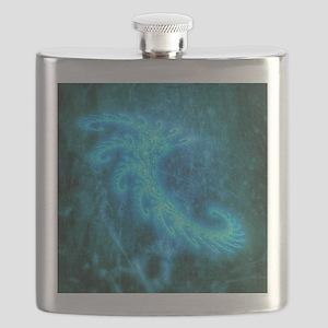 Blue Spiral Fractal Flask