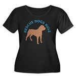 RDR Rotti Women's Plus Size Scoop Neck Dark T-Shir