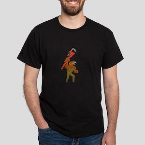 Hawk Plumber Wrench Cartoon T-Shirt