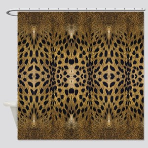 Brown Leopard Pattern Shower Curtain