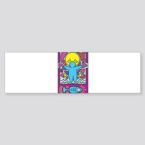 Jesus walking on water Keith Haring Bumper Sticker