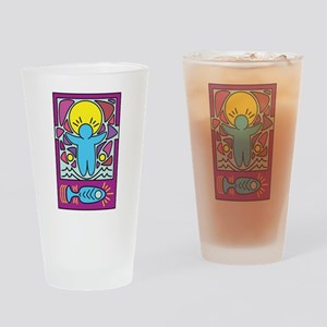 Jesus walking on water Keith Haring Drinking Glass