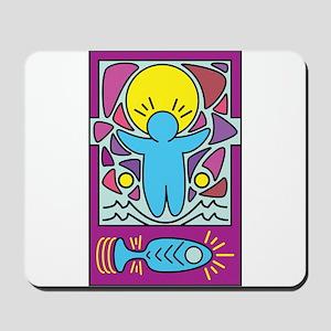 Jesus walking on water Keith Haring vers Mousepad