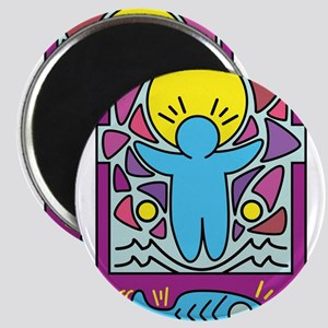 Jesus walking on water Keith Haring versio Magnets