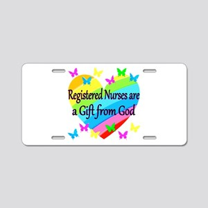 RN NURSE PRAYER Aluminum License Plate